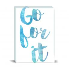 Watercolor Series - Go For It Desktop Print