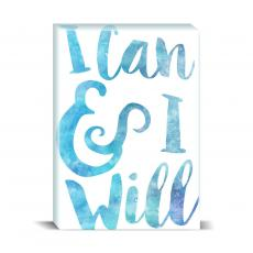 Watercolor Series - I Can and I Will Desktop Print