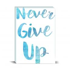 Watercolor Series - Never Give Up Desktop Print