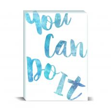 Watercolor Series - You Can Do It Desktop Print