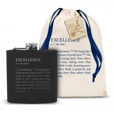 Definition: Excellence 6oz Black Flask