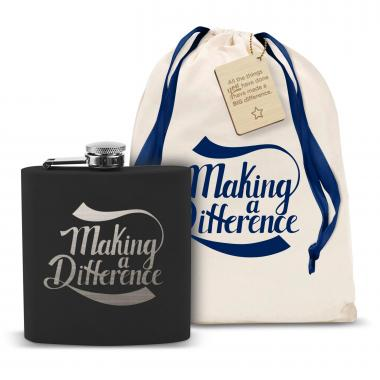 Making a Difference 6oz Black Flask