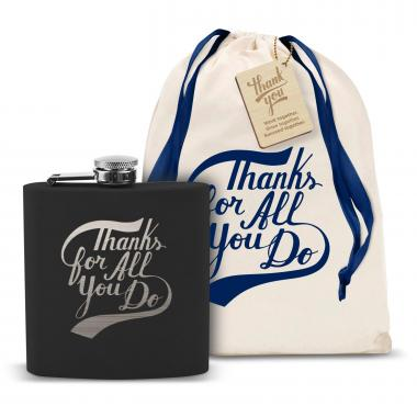 Thanks for All You Do 6oz Black Flask