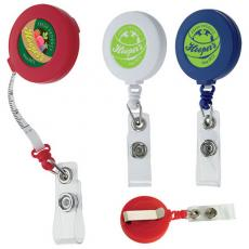 "Tradeshow & Event Supplies - Good Value<sup>™</sup> - Tape measure badge holder. Includes retractable 40"" tape measure"