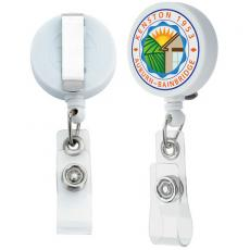 Tradeshow & Event Supplies - Good Value<sup>™</sup> - Unlimited badge holder with slide clip. Extends up to 35""