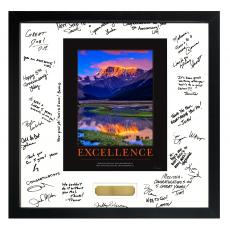 Signature Frames - Excellence Mountain Framed Signature Motivational Poster