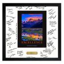 Excellence Mountain Framed Signature Motivational Poster