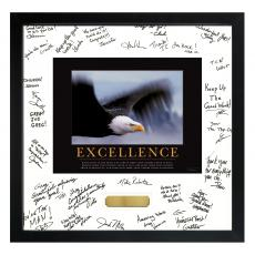 Veterans Day - Excellence Eagle Framed Signature Motivational Poster