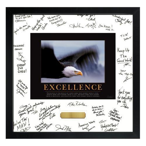 Excellence Eagle Framed Signature Motivational Poster