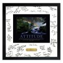 Attitude Rainbow Framed Signature Motivational Poster