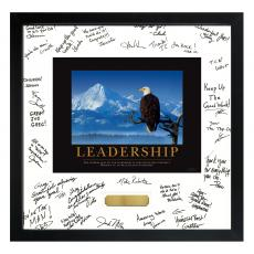 Boss Gifts - Leadership Eagle Framed Signature Motivational Poster