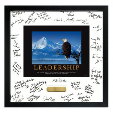 Leadership Eagle Framed Signature Motivational Poster