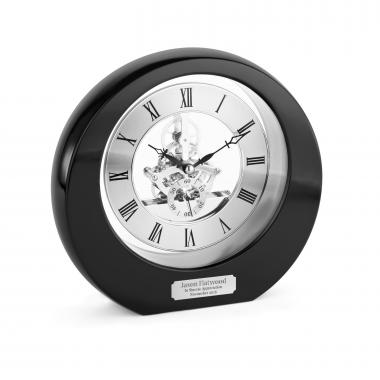 Ebony Interactive Gear Clock Personalized Desk Clock