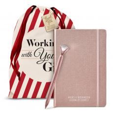 Holiday Gifts - Diamond & Rose Gold Journal Holiday Gift