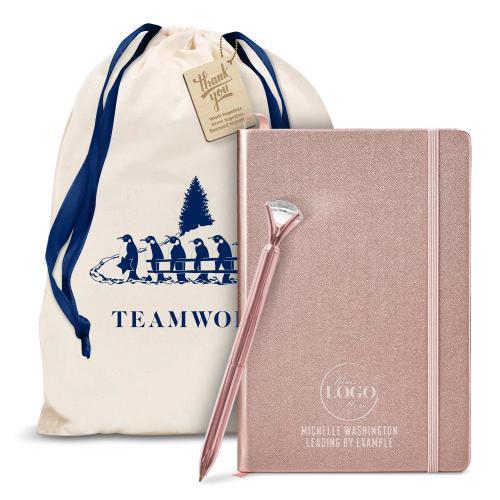 Diamond & Rose Gold Journal Holiday Gift