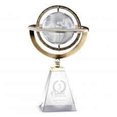 Crystal Trophies - Axis Globe Crystal Award