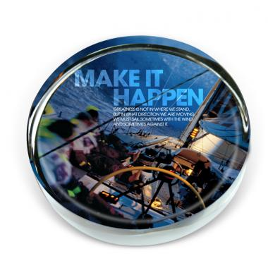 Make It Happen Sailboat Positive Outlook Paperweight