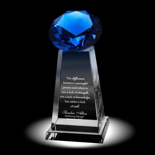 Diamond Pedestal Crystal Award