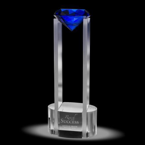 Floating Gem Crystal Award