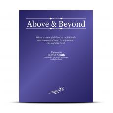 Vivid Color Plaques - Above & Beyond Vivid Award Plaque