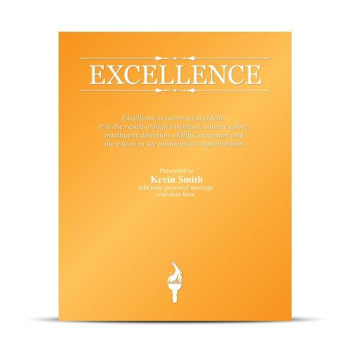 Excellence Vivid Award Plaque