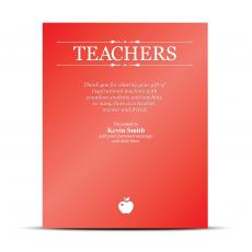 Vivid Color Plaques - Teachers Vivid Award Plaque