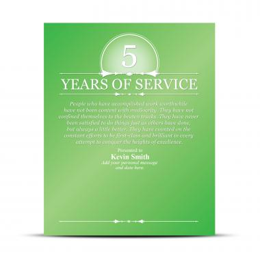 Years of Service Vivid Award Plaque