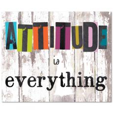 Closeout and Sale Center - Attitude Is Everything Inspirational Art