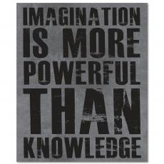 Contemporary Inspirational Art - Imagination Is More Inspirational Art