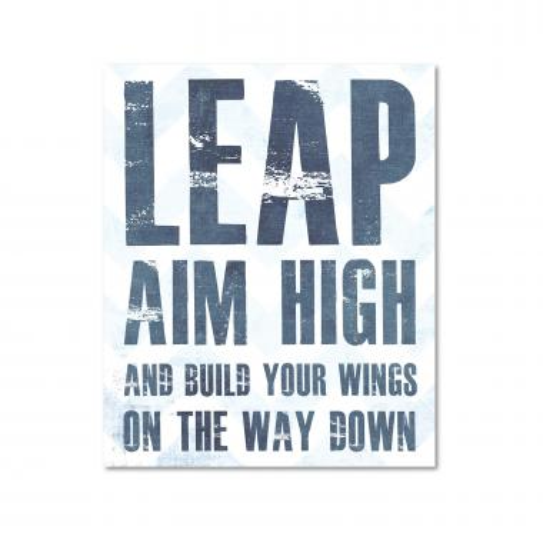 Leap Build Wings Inspirational Art