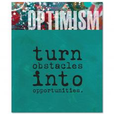 Closeout and Sale Center - Optimism Obstacles Inspirational Art