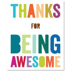 Contemporary Inspirational Art - Thanks for Being Awesome Inspirational Art