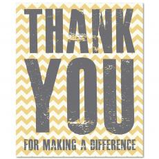 Closeout and Sale Center - Thank You Difference Yellow Inspirational Art
