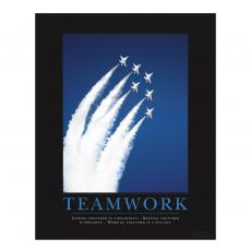 Teamwork Jets Motivational Poster