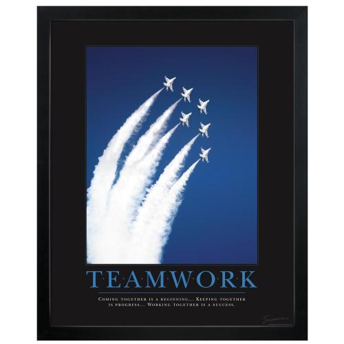 Teamwork Jets Motivational Poster