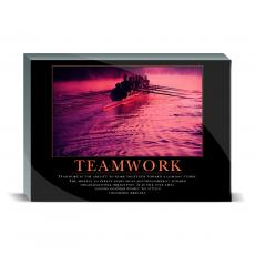 Motivational Posters - Teamwork Rowers Desktop Print