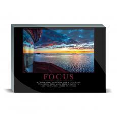 Motivational Posters - Focus Lighthouse Desktop Print