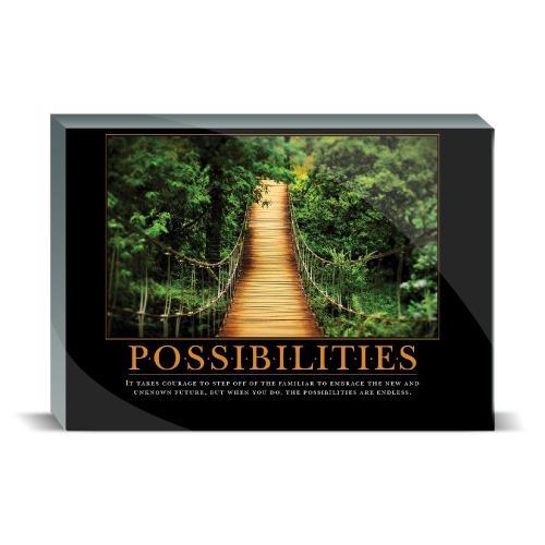 Possibilities Wooden Bridge Desktop Print