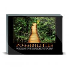 Motivational Posters - Possibilities Wooden Bridge Desktop Print