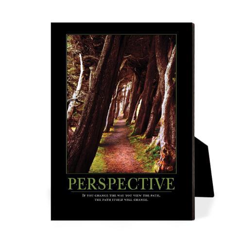Perspective Wooded Path Desktop Print