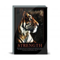 Motivational Posters - Strength Tiger Desktop Print