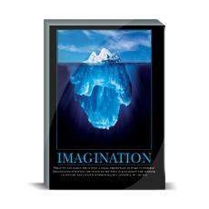 Motivational Posters - Imagination Iceberg Desktop Print