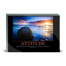 Motivational Posters - Attitude Boulder Desktop Print
