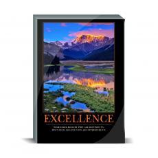 Motivational Posters - Excellence Mountain Desktop Print