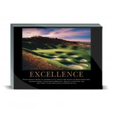 Motivational Posters - Excellence Golf Desktop Print