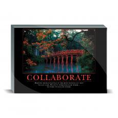 Motivational Posters - Collaborate Bridge Desktop Print