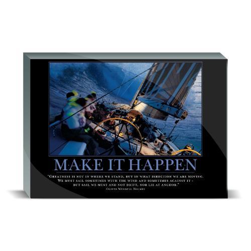Make It Happen Sailboat Desktop Print
