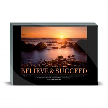 Believe & Succeed Desktop Print