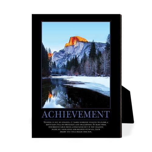 Achievement Mountain Desktop Print