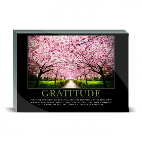 Gratitude Cherry Blossoms Desktop Print